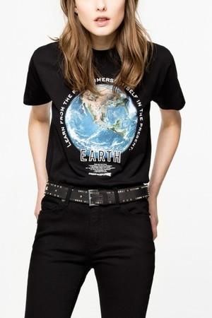 WALK SLUB BIS OVERSIZE COTON Tシャツ ザディグ エ ヴォルテール/ZADIG & VOLTAIRE