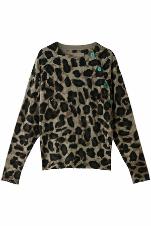 JUSTY PRINT CP PULL LEOPARD ニット ザディグ エ ヴォルテール/ZADIG & VOLTAIRE