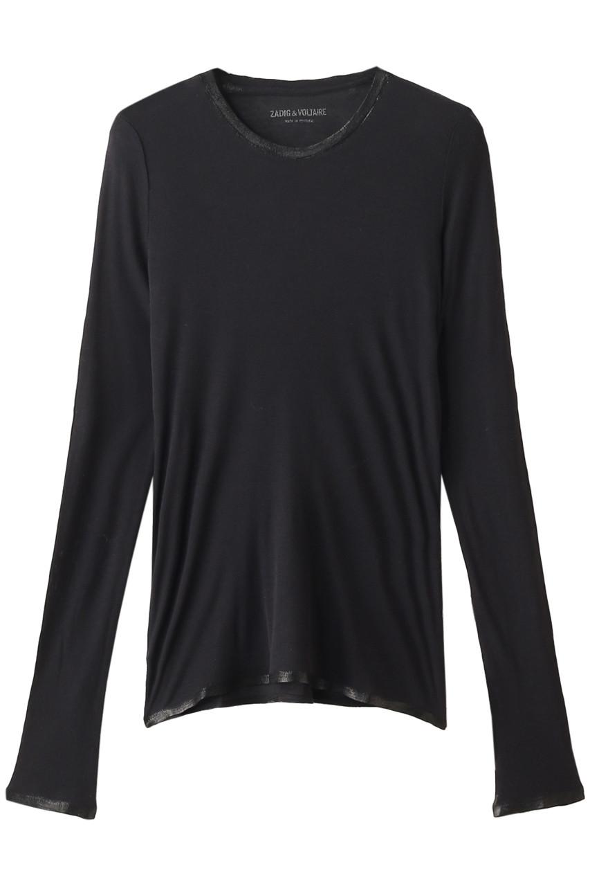 ザディグ エ ヴォルテール/ZADIG & VOLTAIREのWILLY FOIL MODAL ロングスリーブTシャツ(ブラック/PWGTQ1805F)