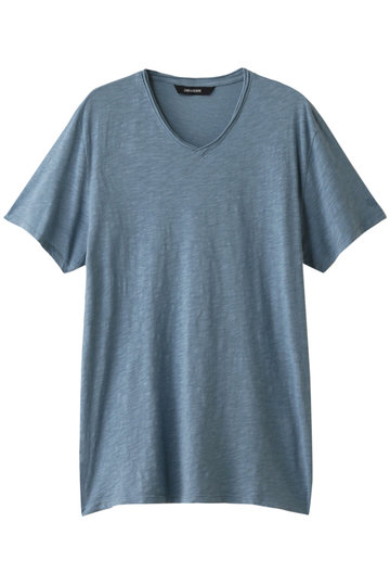 SALE 【50%OFF】 ZADIG & VOLTAIRE ザディグ エ ヴォルテール メンズ(MENS)TERRY FLAMME Tシャツ ブルー