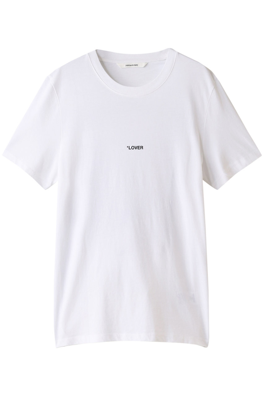 SALE 【40%OFF】 ZADIG & VOLTAIRE ザディグ エ ヴォルテール メンズ(MENS)TED PHOTOPRINT LOVER TEE-SHIRT PRINT DOS Tシャツ ホワイト