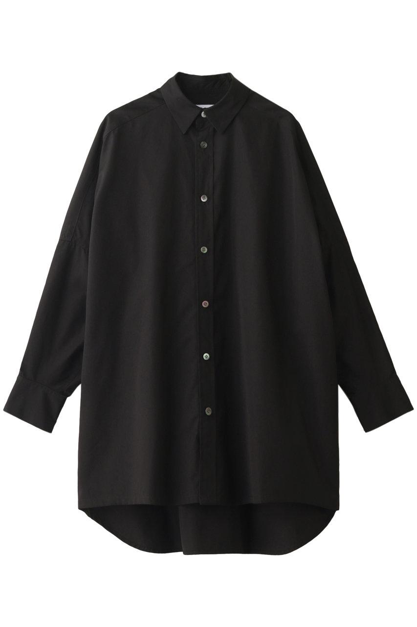 UJOH ウジョー コットンポプリンスクエアシャツ ブラック