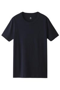 <ELLE SHOP> PETIT BATEAU プチバトー メンズ(MENS)クルーネック半袖Tシャツ(G) ダークネイビー