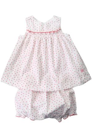 【Baby】ポプリンフラワープリントワンピース&ブルマセット プチバトー/PETIT BATEAU