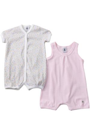 【Baby】girlsショートロンパース2点セット