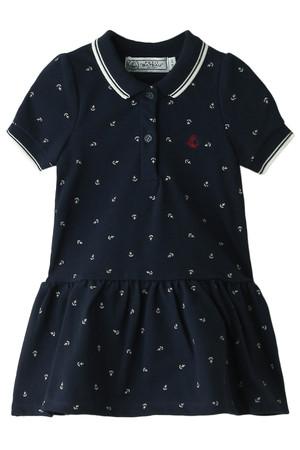 【Baby】girls鹿の子編みポロボディドレス