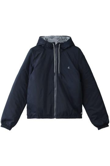 PETIT BATEAU プチバトー フード付きパフジャケット ダークネイビー