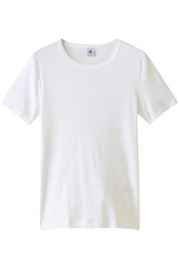 プチバトー/PETIT BATEAUのポワンココットン半袖Tシャツ(ホワイト/45384)