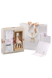 <ELLE SHOP> Sophie la girafe キリンのソフィー ソフィスティケード・スワドルセット ホワイト