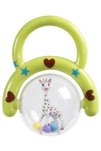 <ELLE SHOP> Sophie la girafe キリンのソフィー ハンドラトル(レッド&グリーン) グリーン