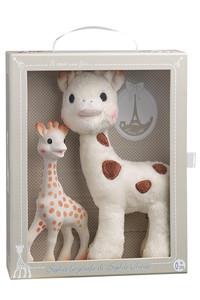 <ELLE SHOP> Sophie la girafe キリンのソフィー ソフィーとシェリーのぬいぐるみセット ホワイト