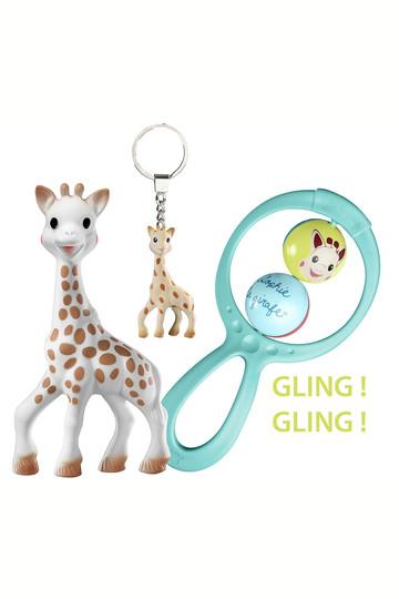 キリンのソフィー/Sophie la girafeの【BABY】スウィングラトル3点セット(ホワイト/#3056560103245)