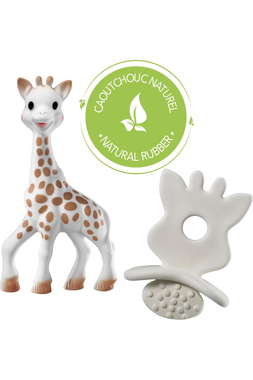 キリンのソフィー/Sophie la girafeの【BABY】ソフィー+ソフィーおしゃぶり(ホワイト/#3056566166244)