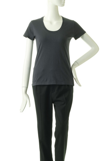 フォーコーナーズ/+FOUR CORNERSの半袖Tシャツ(Uネック)(スミクロ/480404/470405)