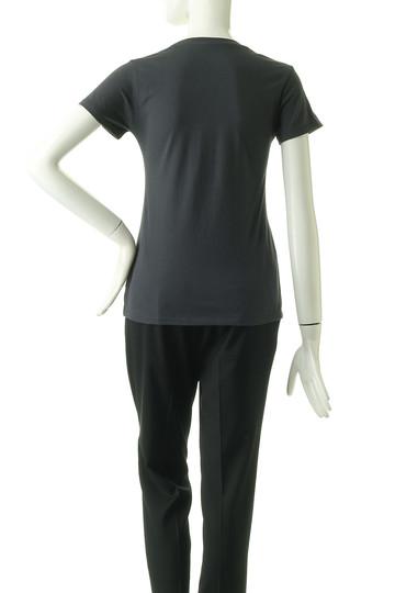 フォーコーナーズ/+FOUR CORNERSの半袖Tシャツ(Uネック)(ブラック/470405)