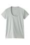 半袖Tシャツ(Uネック) フォーコーナーズ/+FOUR CORNERS ライトグレー