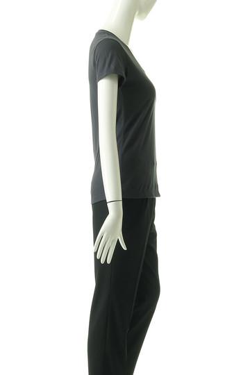 フォーコーナーズ/+FOUR CORNERSの半袖Tシャツ(Uネック)(ライトグレー/480404/470405)