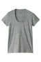 半袖Tシャツ(Uネック) フォーコーナーズ/+FOUR CORNERS 粗挽きグレー