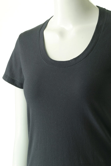 フォーコーナーズ/+FOUR CORNERSの半袖Tシャツ(Uネック)(ベージュ/480404/470405)
