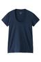 半袖Tシャツ(Uネック) フォーコーナーズ/+FOUR CORNERS ブルー