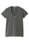 半袖Tシャツ(Uネック) フォーコーナーズ/+FOUR CORNERS オフ×チャコール