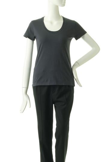 フォーコーナーズ/+FOUR CORNERSの半袖Tシャツ(Uネック)(ネイビー/480404/470405)