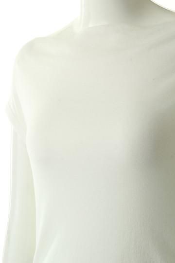 フォーコーナーズ/+FOUR CORNERSの【予約販売】ハーフミラノオフショルダーTシャツ(ブラック/480401)