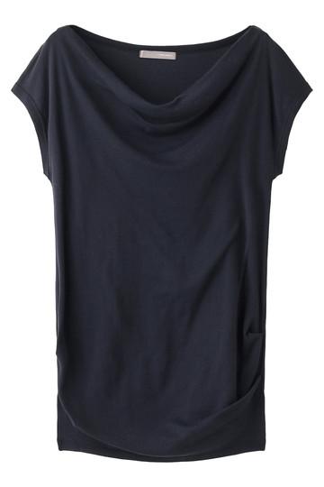 フォーコーナーズ/+FOUR CORNERSのハーフミラノオフショルダーTシャツ(ネイビー/480401)