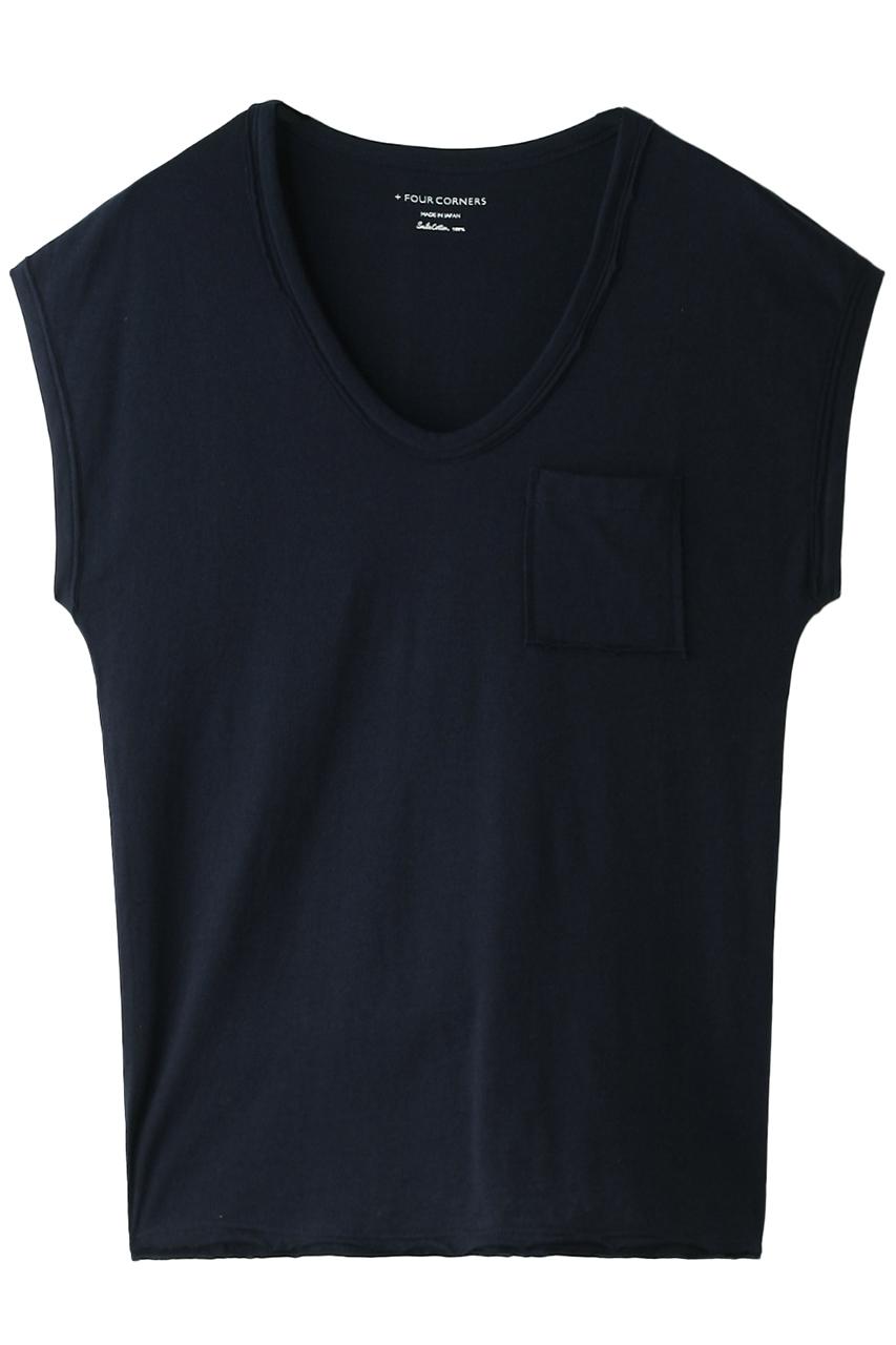 フォーコーナーズ/+FOUR CORNERSのノースリーブTシャツ(ネイビー/470421)
