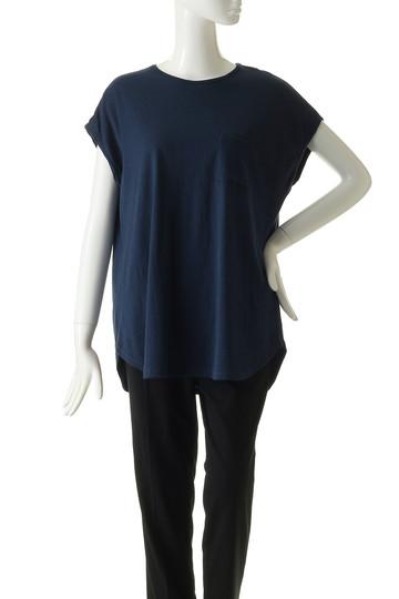フォーコーナーズ/+FOUR CORNERSのビッグシルエットTシャツ(ネイビー/480405/470422)