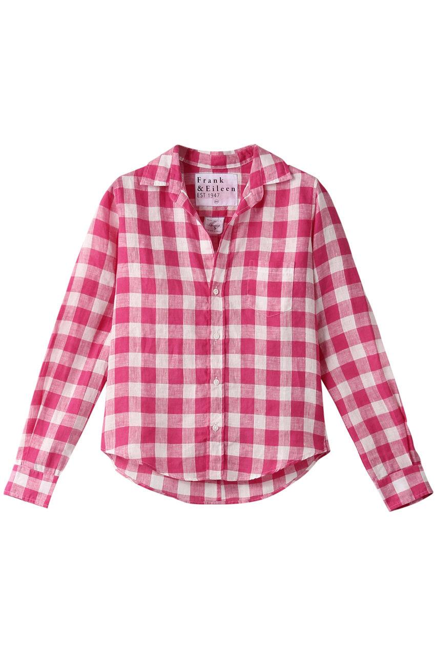 フランク&アイリーン/Frank&EileenのBARRY イタリアンリネン ギンガムチェックシャツ(レッド/3110700075)
