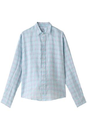 【MEN】PAUL リネンチェックシャツ フランク&アイリーン/Frank&Eileen