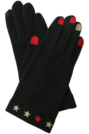 【VINCENT PRADIER】刺繍グローブ ローズバッド/ROSE BUD