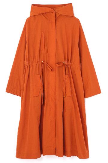 <ELLE SHOP>【予約販売】フード付きロングカラーコート オレンジ