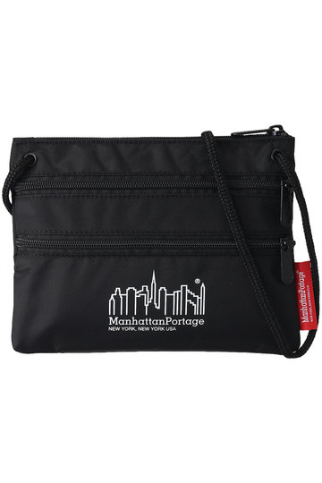 ROSE BUD ローズバッド 【Manhattan Portage】Triple Zipper Pouch ブラック