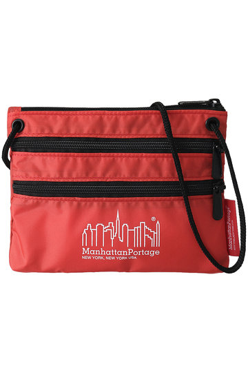 ROSE BUD ローズバッド 【Manhattan Portage】【ROSE BUD別注】CORDURA(R) Lite Collection Triple Zipper Pouch レッド