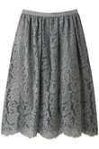 【WEB限定】NERO su neroレースギャザースカート