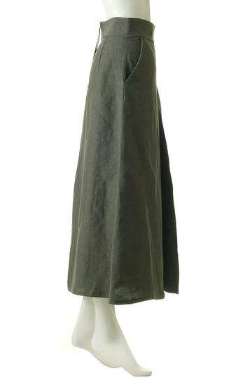 レーヨン/リネンポプリンワッシャーBOXプリーツスカート ウィム ガゼット/Whim Gazette