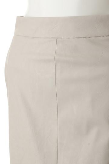 ウィム ガゼット/Whim Gazetteのウェットレザータイトスカート(ブラック/71077310)