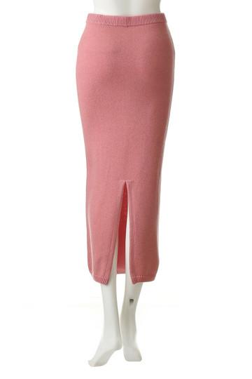 ウィム ガゼット/Whim Gazetteのプレーティングニットスカート(ピンク/71095247)