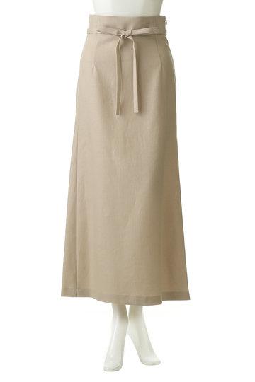 ウィム ガゼット/Whim Gazetteのリネンキャンバススカート(ライトベージュ/71165225)