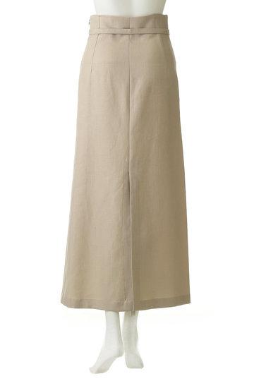 ウィム ガゼット/Whim Gazetteのリネンキャンバススカート(ブラック/71165225)