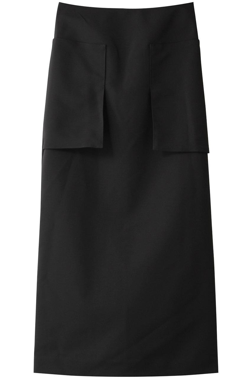エリオポール/HELIOPOLEのダブルクロス ワークスカート(ブラック/TO-4206-1501)
