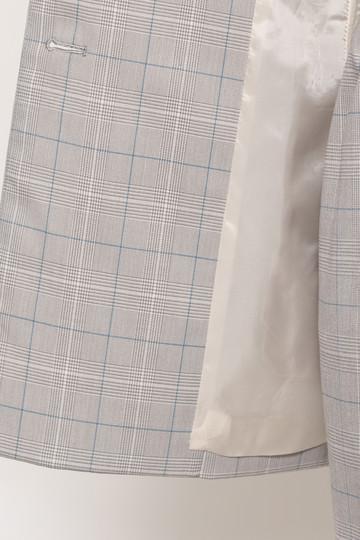 エリオポール/HELIOPOLEのグレンチェックノーカラーダブルジャケット【セットアップ対応】(モノトーン系/4181-1202)
