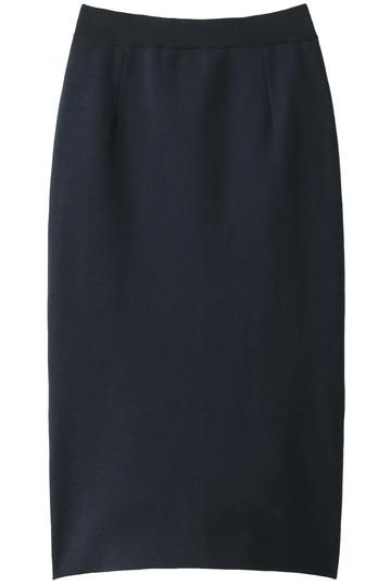HELIOPOLE エリオポール プレーティングミラノリブニットタイトスカート ネイビー