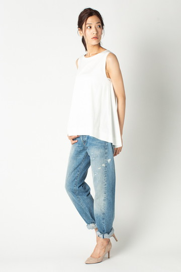 エリオポール/HELIOPOLEのボンディング フレアスリーブTシャツ(ライトグレー/4186-8812)