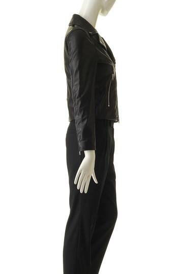 エリオポール/HELIOPOLEのラムレザー ライダースジャケット(ブラック/4186-2200)