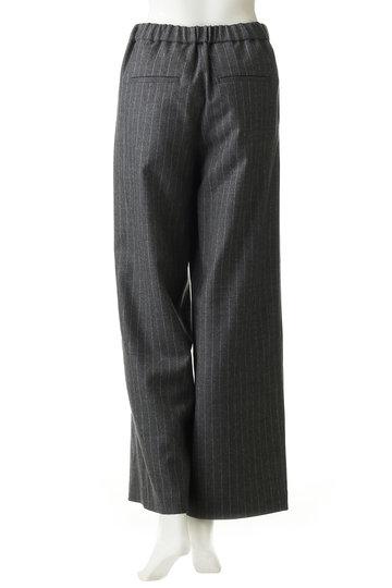 エリオポール/HELIOPOLEのサキソニー ストライプ ドロストパンツ(グレーストライプ/4188-1613)