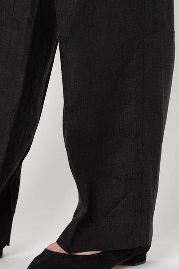 エリオポール/HELIOPOLEの【ウォッシャブル】 40リネン リボンベルト セミワイドパンツ(ブラウン/4193-1608)