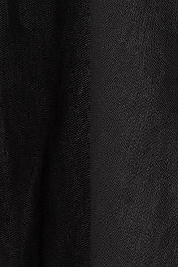エリオポール/HELIOPOLEの【ウォッシャブル】 40リネン スキッパーワンピース(ブラック/4193-1407)